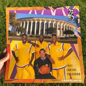 1993 Lakers Collecter calender